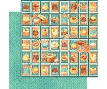 Graphic 45 Postage Patisserie 12x12 Inch 25 pc. (4501424)