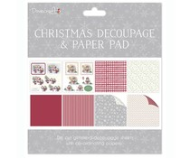 Dovecraft Christmas FSC Decoupage and Paper Pad Hedgehogs (DCDPG002X16)