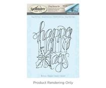 Spellbinders Happy Holly Days Cling Stamp Set (SBS-061)