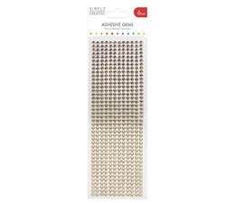 Simply Creative Adhesive Gems 6mm Gold (SCDOT015)