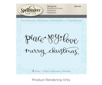 Spellbinders Merry Christmas Cling Stamp Set (SBS-055)