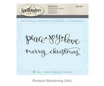 Spellbinders Merry Christmas Cling Stamp Set (SBS-055)