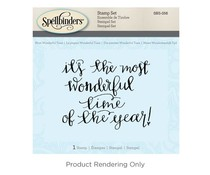 Spellbinders Most Wonderful Time Cling Stamp Set (SBS-056)