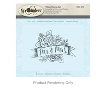 Spellbinders Mr. & Mrs. 3D Cling Stamp Set (DSC-025)
