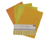 Dovecraft A4 Felt Multipack Yellows & Oranges (DCFL022)