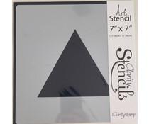 Claritystamp Art Stencil 7x7 Inch Triangles Stencil (STE-PA-00247-77)