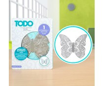 TODO Letterpress and Hot Foil Plate Intricate Butterfly Large (383628)