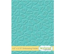 Taylored Expressions Conversation Hearts Embossing Folder (TEEF61)
