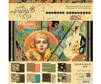 Graphic 45 Vintage Hollywood 8x8 Inch Paper Pad (4501532)