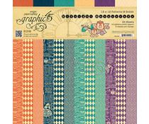 Graphic 45 Midnight Masquerade 12x12 Inch Patterns & Solids (4501550)