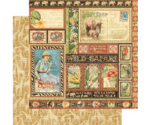 Graphic 45 Amazing Africa 12x12 Inch 25pc. (4501362)