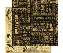 Graphic 45 Silver Screen 12x12 Inch 25pc. (4501530)