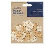 Papermania Bare Basics Burlap Mini Flowers (32pcs) (PMA 174867)
