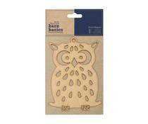 Papermania Bare Basics Wooden Shapes - Owl (PMA 174607)