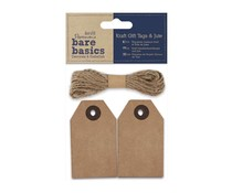 Papermania Bare Basics Kraft Gift Tags & Jute (PMA 174308)