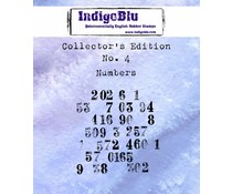 IndigoBlu Collectors Edition 4 Rubber Stamp - Numbers (IND0332)