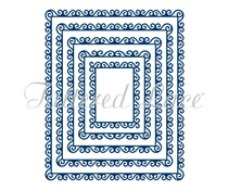 Tattered Lace Swirl Edge Rectangles (TLD0143)