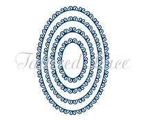 Tattered Lace Swirl Edge Ovals (TLD0142)