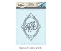 Spellbinders Hello Ornate 3D Shading Stamp (DSC-041)