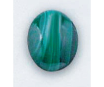 Natural Stone Malachite oval 10x14 mm (T-00012)