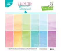 Lawn Fawn Watercolor Wishes 12x12 Inch Collection Pack (LF1356)