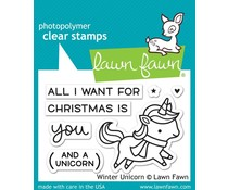 Lawn Fawn Winter Unicorn (LF1218)