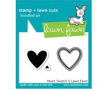 Lawn Fawn Heart Swatch Stamp & Die (LF1314)