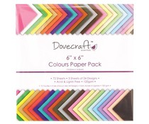 Dovecraft 6x6 Inch Colours Paper Pack (DCDP61)