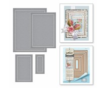 Spellbinders Hemstitch Rectangles Etched Die Nestabilities (S5-308)