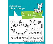 Lawn Fawn Pumpkin Spice Clear Stamps (LF1462)