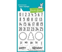 Lawn Fawn Celebration Countdown Clear Stamps (LF1476)