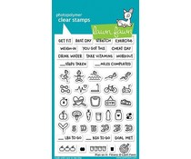 Lawn Fawn Plan On It: Fitness Clear Stamps (LF1483)