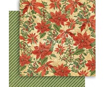 Graphic 45 Pretty Poinsettia 12x12 Inch Paper Pack (4501600)