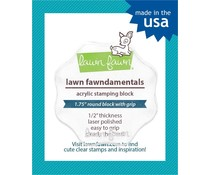 Lawn Fawn Fawndamentals - Acrylic Stamping Block 1.75 Inch Round (LF496)