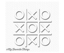 My Favorite Things Tic Tac Toe - White (SUPPLY-3013)