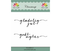 Dixi Craft Clear Stamps Danish Texts 4 (STAMP0115)