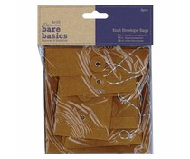 Papermania Bare Basics Kraft Envelope Bags Square Brown (6pcs) (PMA 174227)