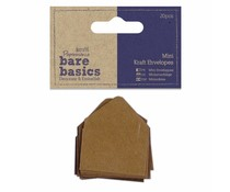 Papermania Bare Basics Mini Kraft Envelopes Brown (20pcs) (PMA 174357)