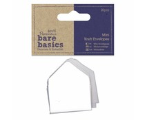 Papermania Bare Basics Mini Kraft Envelopes White (20pcs) (PMA 174358)
