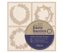 Papermania Bare Basics Wooden Shapes Wreaths (20pcs) (PMA 174692)