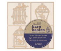 Papermania Bare Basics Wooden Shapes Birdcages (20pcs) (PMA 174693)
