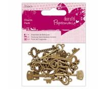 Papermania Charm Pack Vintage Keys (21pcs) (PMA 356015)