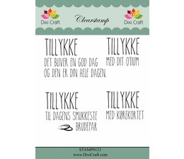 Dixi Craft Danish Text Clearstamp (STAMP0123)