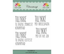 Dixi Craft Danish Text Clearstamp (STAMP0121)