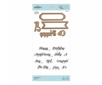Spellbinders Stamp & Die Set Oh Happy Day (SDS-116)