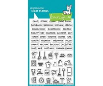Lawn Fawn Plan on It: Spring Cleaning Clear Stamps (LF1607)