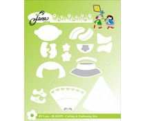 By Lene Children Cutting & Embossing Die (BLD1059)