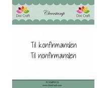 Dixi Craft Til Konfirmanden (Danish texts) Clearstamps (STAMP0126)