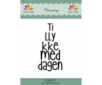 Dixi Craft Tillykke med dagen (Danish texts) Clearstamps (STAMP0127)