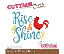 Scrapping Cottage Rise & Shine Phrase (CC-437)
